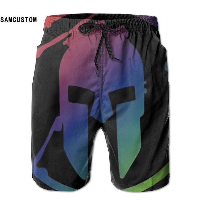 b7316eb1d0 SAMCUSTOM mens perspiration quick dry ultra-light breathable Spartan Race  Tee shorts gmy shorts beach