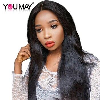 250% Плотность Фронта Шнурка Человеческих Волос Парики Для Чернокожих Женщин Вы может Волосы Прямые Бразильские Волосы Remy С Ребенком Волос Natural Color