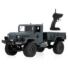 FY001A 1/16 RC Car 4WD 2.4GHz 3000G Load Military Truck Off-road RC Car Crawler with LED Headlights for Kids Gifts