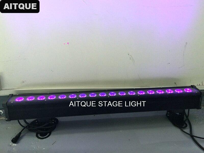 2 лот этапе прожектор uv led бар 18x15 Вт rgbwa УФ 6in1 светодиодные стены dmx стены света led dmx ip65 светодиодные прожекторы