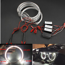2017 NEW 4*131mm LED Angel Eyes for BMW E46 E39 E38 E36 Projector SMD LED halo rings kit White CREES LED angel eyes for bmw e46 недорго, оригинальная цена