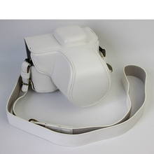 White Luxury Digital Camera Leather Case Cover for Olympus Pen Lite E-PL7 Camera Case Charging Directly Free Shipping