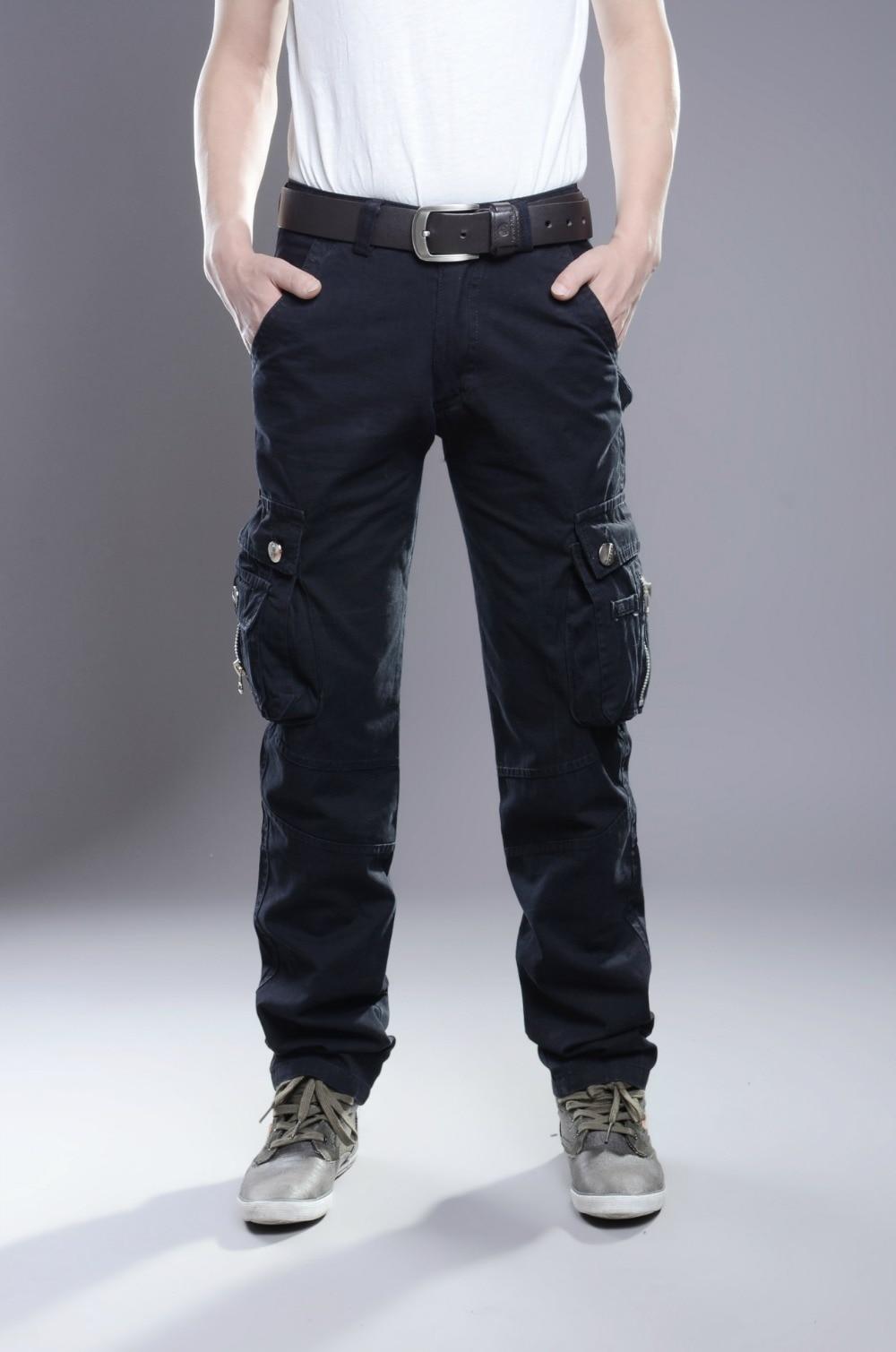 MIXCUBIC стиральная Военная униформа брюки для мужчин износостойкие Брюки Карго Для мужчин комбинезоны мульти-карман комбинезоны для мужчин Размер 28-38
