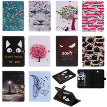 Luxury Horse Print Leather Magnetic Flip Wallet Tablet Case Cover Skins Coque Funda For Samsung Galaxy Tab S2 8.0 SM-T710 T715 tablet cover for samsung galaxy tab s2 8 0 t710 t715 sm t715 tablet case for coque samsung galaxy tab s2 8 0 case card holder
