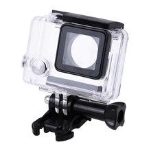 Действие Камера Корпус случае Камера пластиковые протектор боковое отверстие Корпуса Рамки с подставкой стабилизатор для GoPro 3/3 +/4