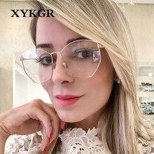 XYKGR retro ladies simple polygonal glasses frame trend optical computer mens fashion