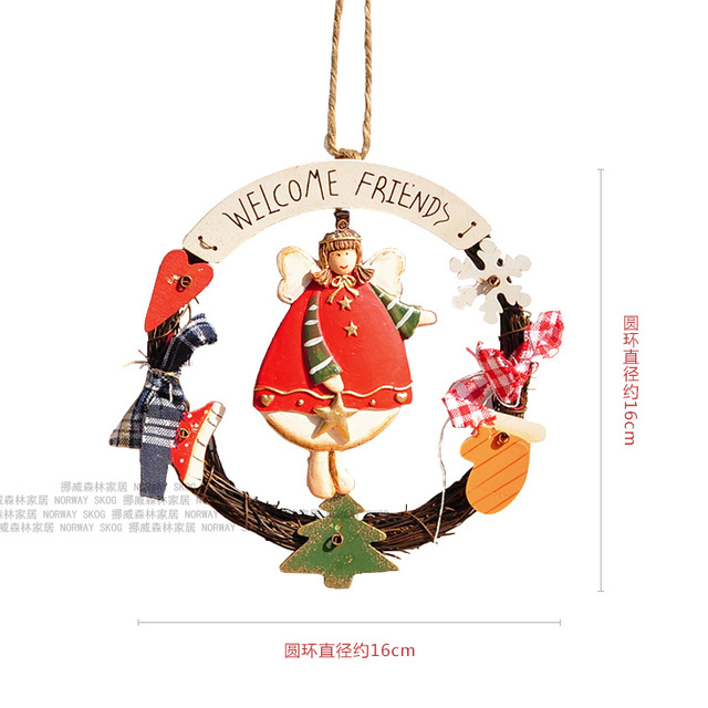 free shippingdiameter 16cmeuropean angel christmas ornaments american coffee shop window decorative