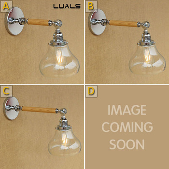 Loft Industiral Retro Wall Lamp Glass Cover Iron Decorative Wall light Restaurant Bar Indoor Wall Mounted Swing Arm lights