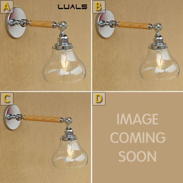 Loft Industiral Retro Wall Lamp Glass Cover Iron Decorative Wall ...