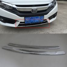 цены Car body kits  ABS front moulding trims cover Pedal Car Sticker For HONDA CIVIC 2017