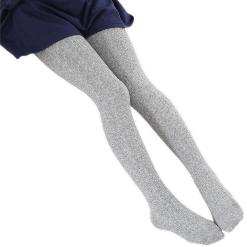 2-10T Spring Autumn Cotton Leg Warm Kid Baby Girls Stockings Knitted Kids Pantyhose Children Tights Stockings For Baby Girls