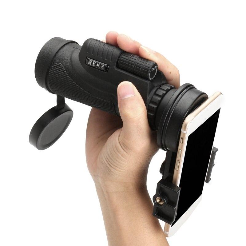 Portable 12X50 Zoom Télescope Monoculaire Randonnée Concert Camera Lens avec Universal Smart Phone Support pour iPhone pour Samsung