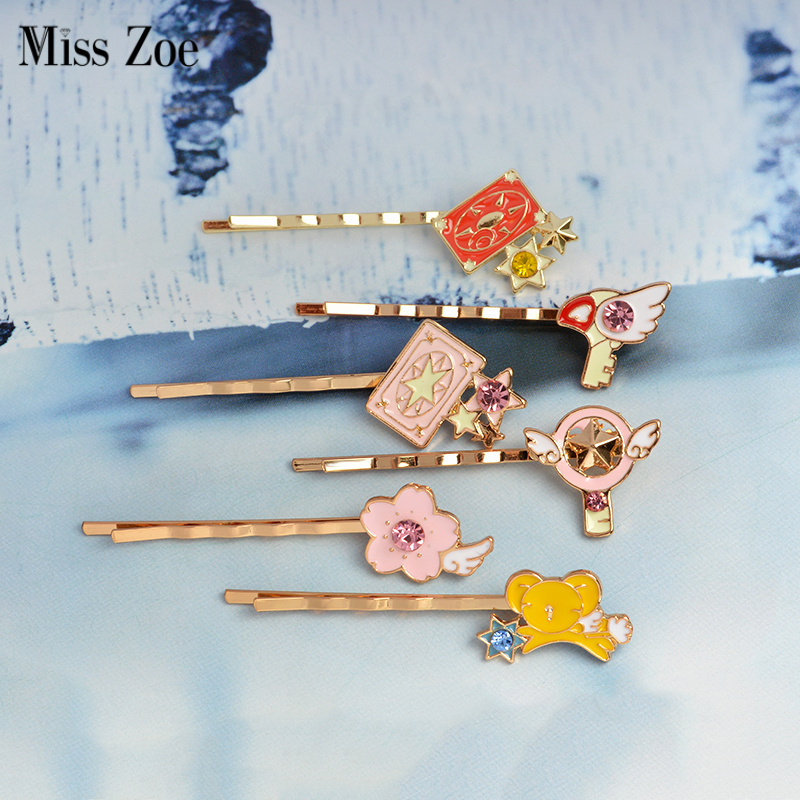 Brooches Animation Jewelrycaptor Sakura Clow Card Wings Star Stick Bird Kero Brooch Collar Corsage Shirt Bag Cap Jacket Pin Badge