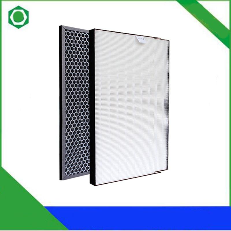 2Pcs/set Air Purifier Dust Collection Heap Filter for Sharp KC-D50-W KC-E50 Air Purifier 400*220*28mm