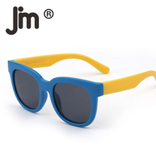JM Kids Cheap Flexible Rubber Sunglasses Polarized Eyeglasses for Boys Classic Eyewear Age 6 to 12