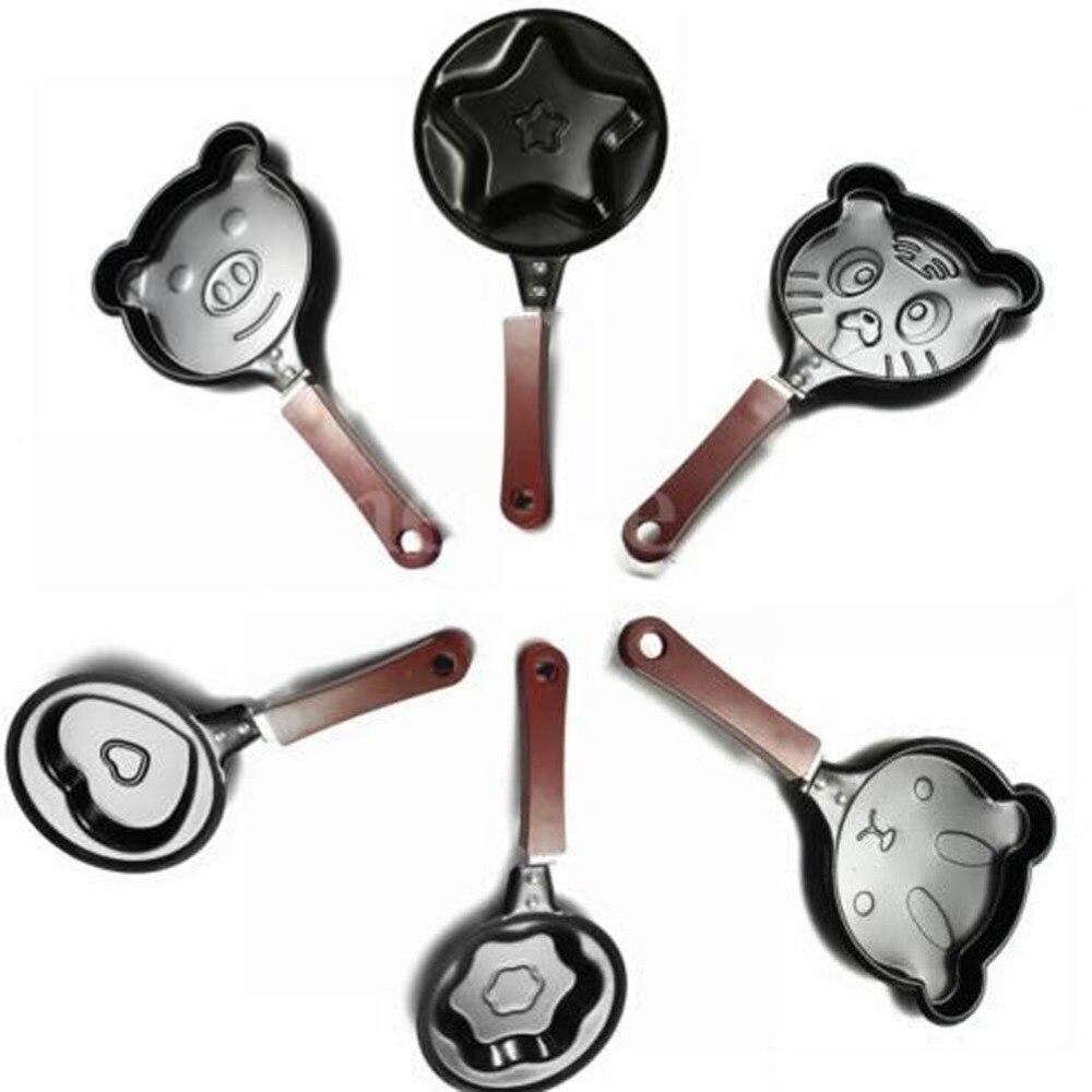 1pcs Mini Non Stick Stainless Steel Heart Shape Egg Pan Pancake Pot Fry Frying Pan Kitchen Tools