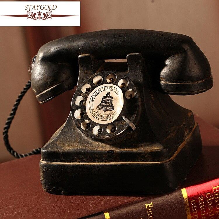 Vintage Home Decor Zakka D'épicerie Ameublement Décor Artisanat Ornements Téléphone