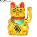 KiWarm китайский счастливый богатство Электрический подмигивающий Кот золотой развевающийся Кот Манеки питание от АА батареи фэн-шуй ремесла 16 см - фото