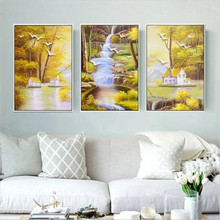 DiamondEmbroidery,China,landscape,scenery, Tree crane, 5D Full Diamond Painting, Cross Stitch, Mosaic, Decoration