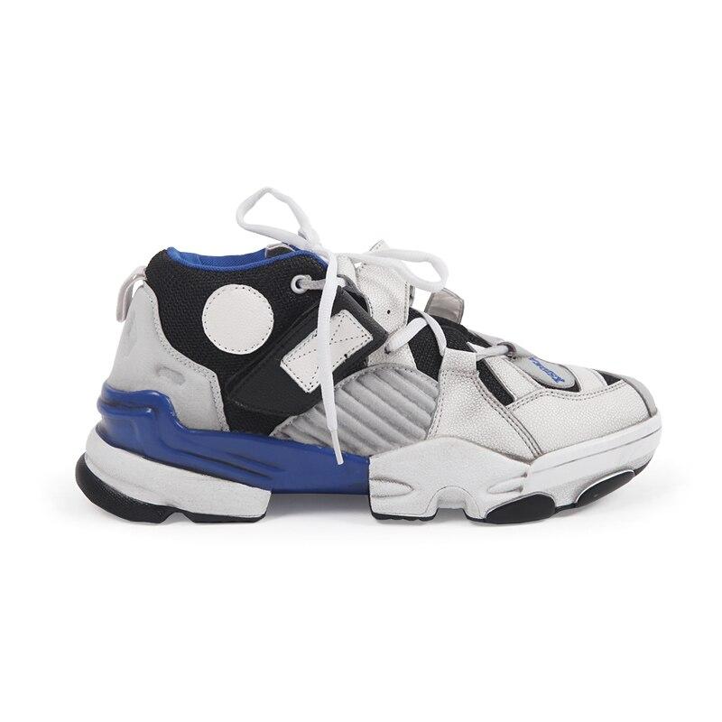 Super Feu de Vieilles Chaussures Hommes Version Coréenne De Harajuku Sauvage Sneakers Rétro L'exercice Chaussures