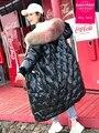 winter Fashion brand glossy fabric natural fur hooded 90% duck <font><b>down</b></font> parkas winter was thin longer thicker warm <font><b>down</b></font> <font><b>coat</b></font> wq635
