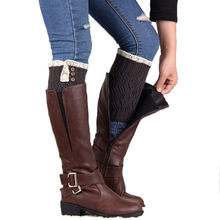 1 Pair Knitted Hollow Out Twill Leg Warmers Socks Boot Cover New Fashion Amazing high quality short leg warmers women 30H(China)