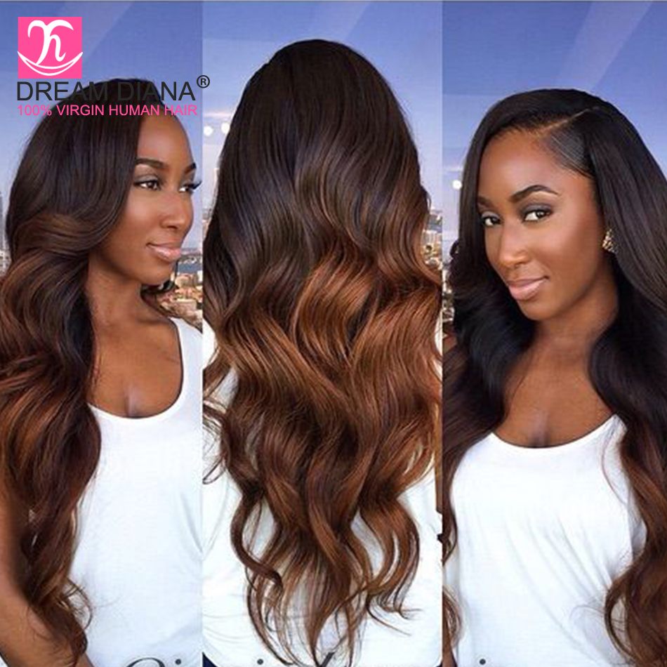 Virgin-Hair Body-Wave Dream Diana Two-Tone Ombre 3-Bundles 1b/30 Malaysian Thick Soft