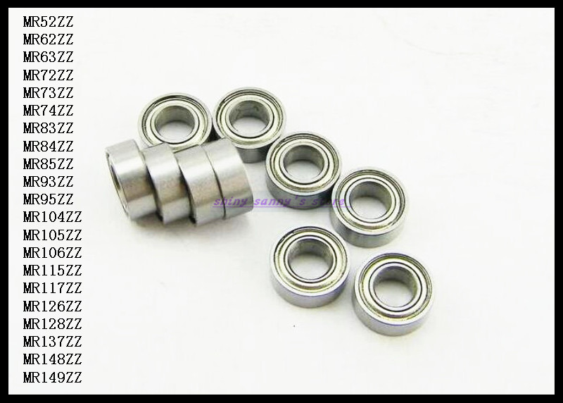 50pcs/Lot MR105ZZ  MR105 ZZ 5x10x4mm Thin Wall Deep Groove Ball Bearing Mini Ball Bearing Miniature Bearing Brand New gcr15 6326 zz or 6326 2rs 130x280x58mm high precision deep groove ball bearings abec 1 p0