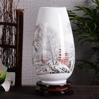 Jingdezhen Ceramic Ornaments Living Room Flower Arrangement Modern Home Accessories Simple Vase Chinese Style Pastel Vase 27