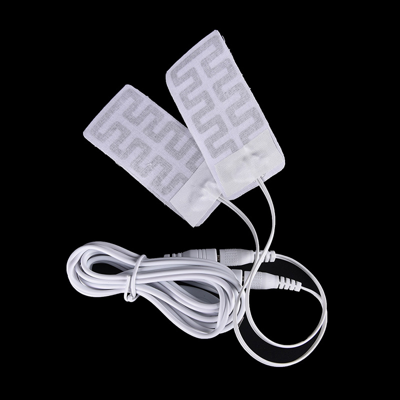 5*9CM 1 Pair 3.7V-5V USB Heated Gloves Pad Luva Calefaccion Guantes Electric USB Gloves Heater Heated Gloves Carbon Fiber Cloth