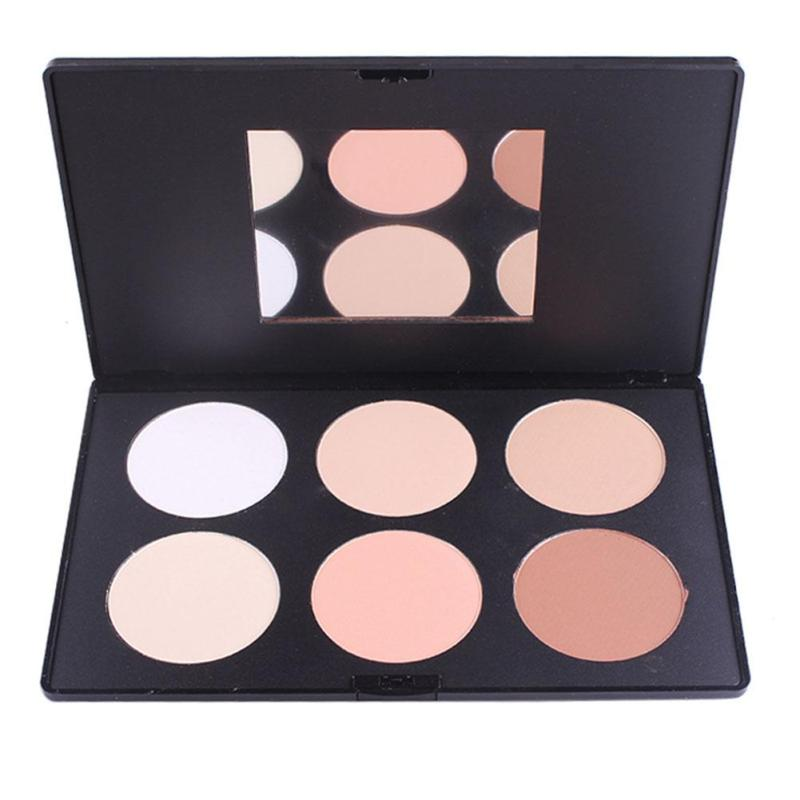 Miss Rose Makeup Pressed Face Powder 6 Colors Bronzer and Highlighter Powder Palette Shimmer <font><b>Contour</b></font> Concealer Glow Kit Z3