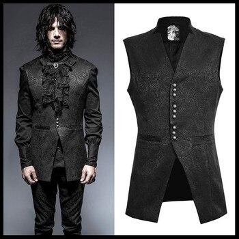 Punk Rave Mens Vest Damask Waistcoat Vest Jacket Victorian Steampunk Gothic Vintage Cosplay Costume