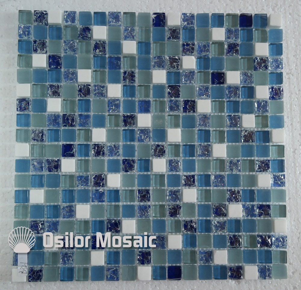 Free shipping mediterranean sea cracked pattern glass crystal stone mosaic tile for bathroom or living room wall tile for free shipping 323 sea fuxing 2 glass doors lifter qianmen elevator machine