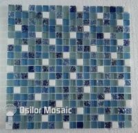 Kostenloser versand mittelmeer cracked muster glas kristall stein mosaik fliesen für bad oder wohnzimmer wandfliese