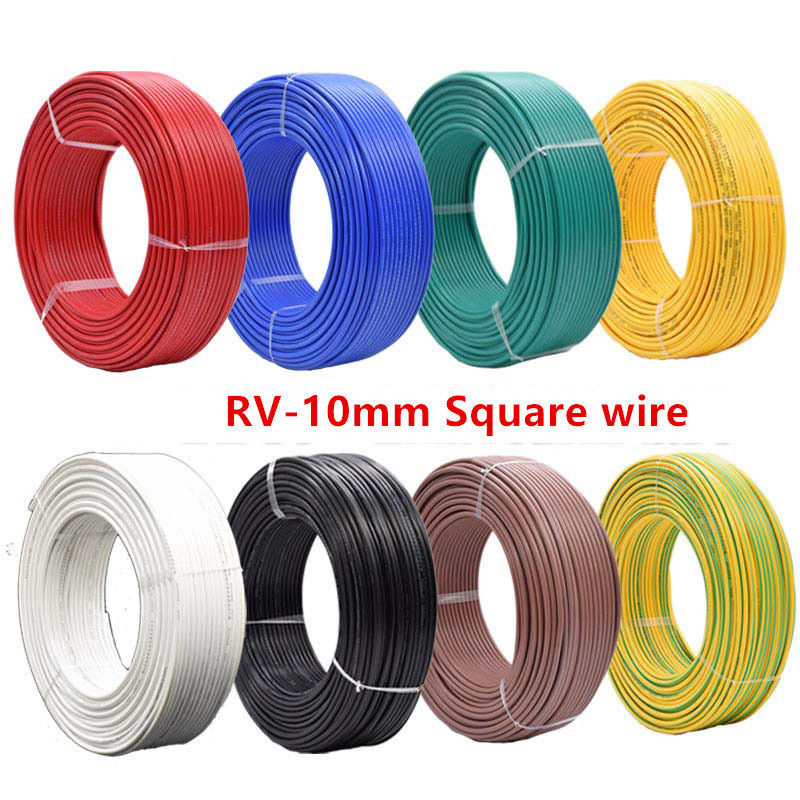 5m RV wire 10mm Square Flexible Stranded Multi-strand Cord Electrical and Electronic Equipment Line Copper Electronic Wire цена