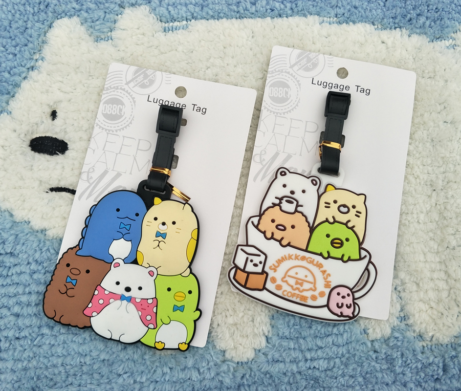 IVYYE Sumikko Gurashi Anime Travel Accessories Luggage Tag Suitcase ID Address Portable Tags Baggage Labels Gifts New