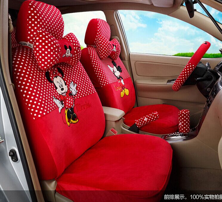 Car Styling Red Black Beige Mickey Minnie Mouse Seat Covers Accessories For Seats Set Cheap Universal Auto In Automobiles