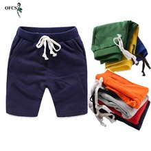 Children Summer Shorts Cotton Solid Elastic Waist Shorts For Boys Girls Fashion Sports Pants Toddler Panties Kids Beach Clothing cheap OFCS CN(Origin) Fits true to size take your normal size 20210225 European and American Style Regular 12 color autumn piece