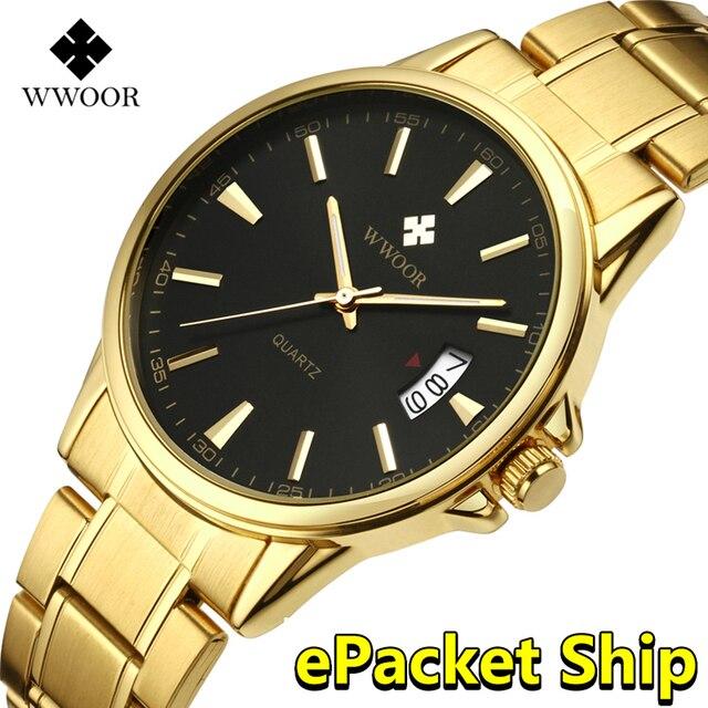 Orologi da uomo 2019 Top Brand Di Lusso In Acciaio Inox Oro orologio da polso da uomo Impermeabile dorato maschio uomini della vigilanza 2018 Relogio Masculino