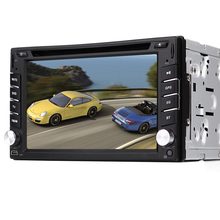 """Pupug Win 8UI 6.2""""double 2din Car DVD Player GPS Navigation Bluetooth audio Stereo DVD/FM/Radio with 4GB map card for Gift auto"""