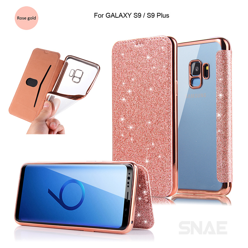 Slim Book Leather+TPU Wallet Flip Phone Protect Samsung Galaxy S9 S8 Plus Samsung S7 Edge Note 8 Case