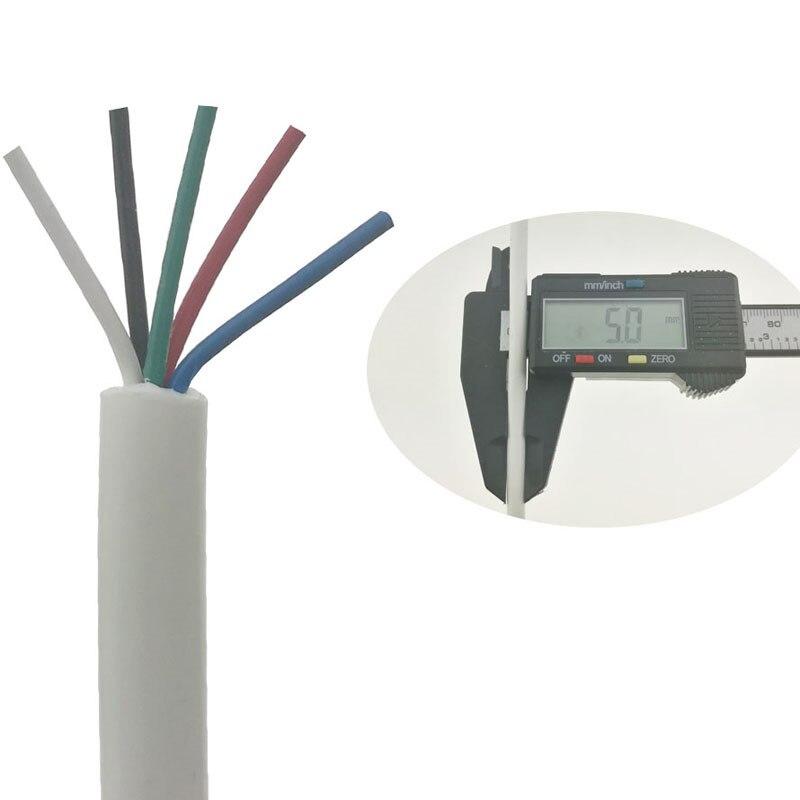 Blanc Dimensions 5mm Doux Cinq 5 Core Fil De Silicone Durable Station de soudage Poignée Ligne Pour T12 936 937 907 9501 2028