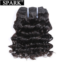 Spark Brazilian Deep Wave Hair Weave Bundles 3pcs/Lot 6 Inch Human Remy Hair Bundles Natural Color 6Pieces Can Make One Wig(China)