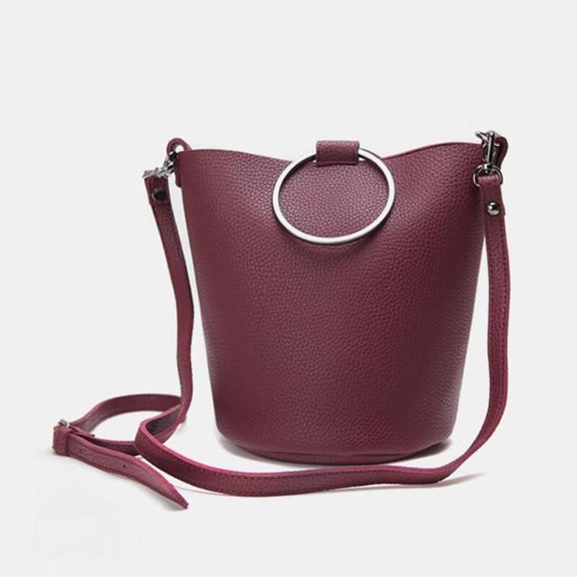 New Korean Circle Ring Shoulder Bags For Women Sling Bucket Designer Las Fashion Hand