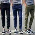 Fashion Casual Men Pants Korea style Leisure Cotton Slim Fit cargo pants skinny Long trousers brand-clothing D002