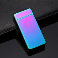 Newest Electric Lighter Dual Arc Cigarette Plasma Recharge Windproof Flameless USB Tobacco Cigarette Lighters 5 Colors