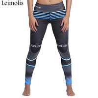 Leimolis 3D Print Striped Honeycomb Winter Harajuku Adventure Time Workout Push Up Plus Size Fitness Leggings