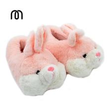 Millffy belle rose lapin soie art hiver chaud velours pantoufles intérieur confortable chaussures fourrure de lapin pantoufles en peluche pantoufles