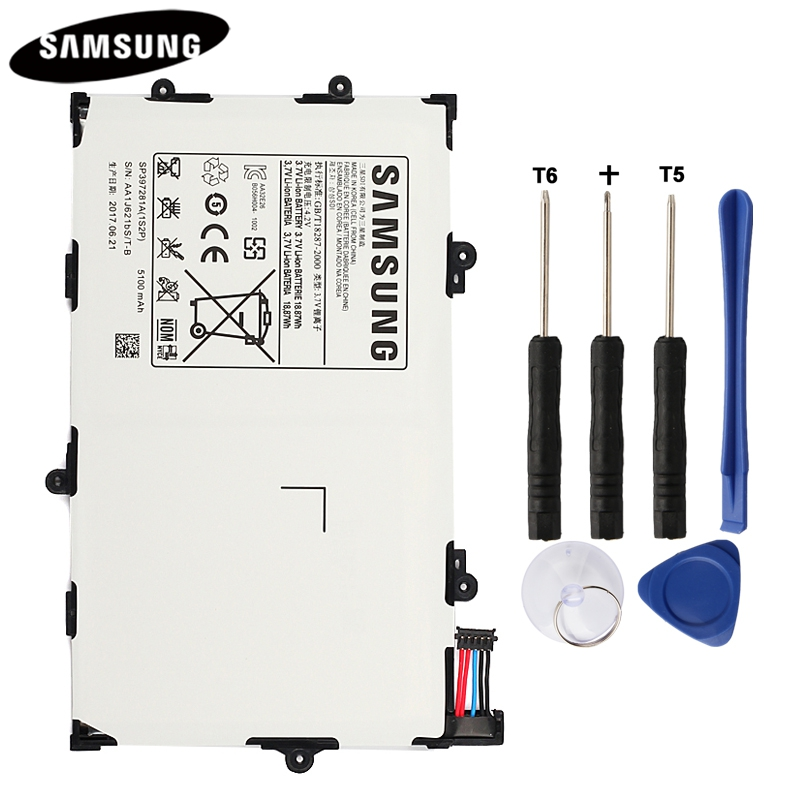 100% Original Tablet Battery SP397281A For Samsung Galaxy Tab 7.7 i815 P6800 P6810 Genuine Replacement Batteries 5100mAh