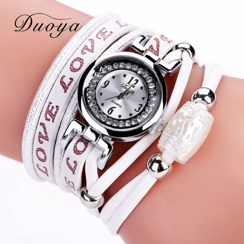 где купить Duoya Brand Luxury Bracelet Watches Fashion Silver Women Vintage Wrist Quartz Watch Ladies Dress Female Gift Vintage Clock DY102 по лучшей цене